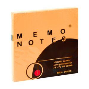 Notes 75x75 mm, 80 kartek, pomarańczowy brilliant