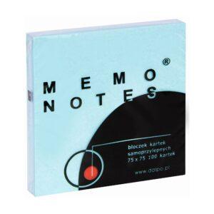 Notes 75x75 mm, 100 kartek, niebieski pastelowy