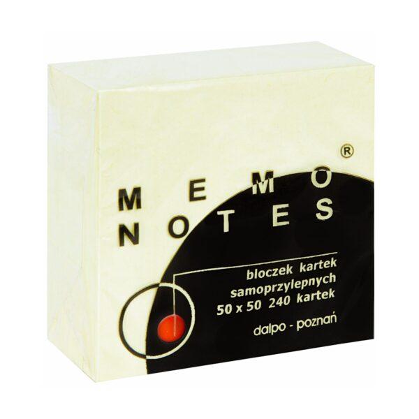 Mini kostka 50x50 mm, 240 kartek, żółta