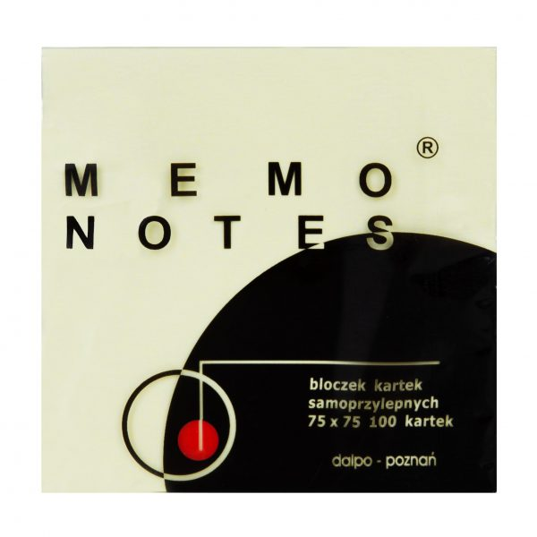 Notes 75x75mm, 100 kartek, żółty