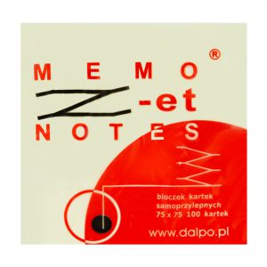 "Notes ""Z-et"" 75x75mm, 100 kartek, żółty"