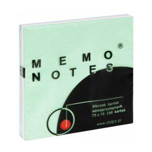 Notes 75x75 mm, 100 kartek, mix pastelowy
