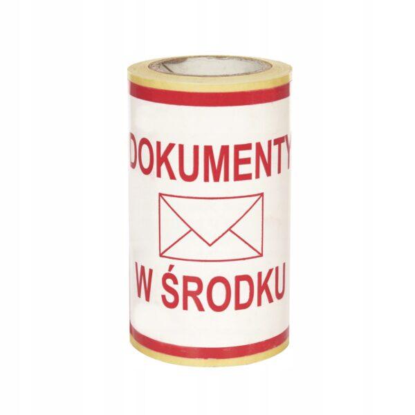 """Etykiety z nadrukiem """"Dokumenty w środku"""" 100/100, 100 szt."""