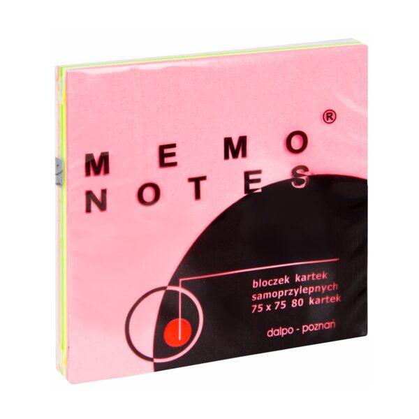 Notes 75x75 mm, 100 kartek, mix tęczowy