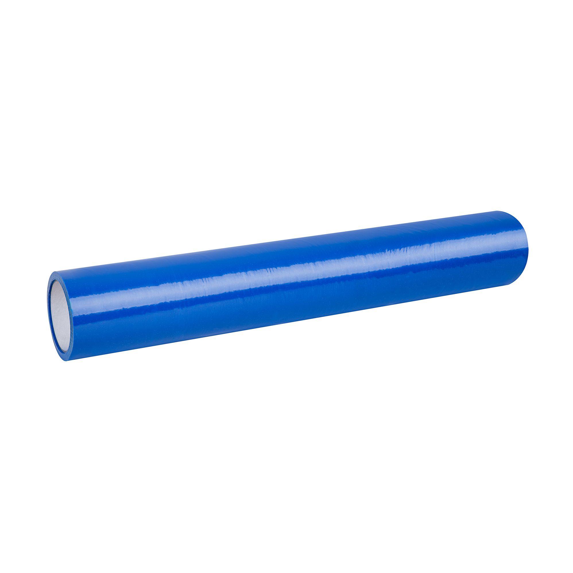 Niebieska folia ochronna do podłóg i okien