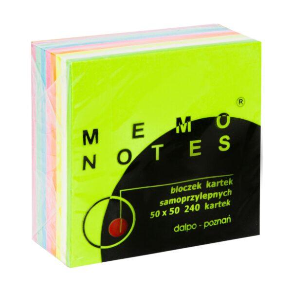 Mini kostka 50x50 mm, 240 kartek, tęczowa
