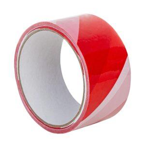 Czerwono-biała taśma ostrzegawcza PVC