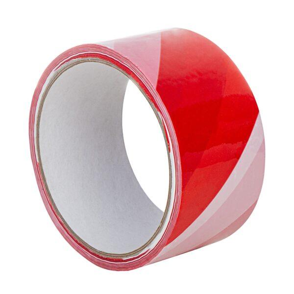 Czerwono-biała taśma ostrzegawcza PVC 50/33m