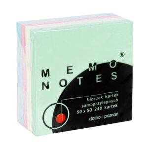 Mini kostka 50x50 mm, 240 kartek, pastelowe