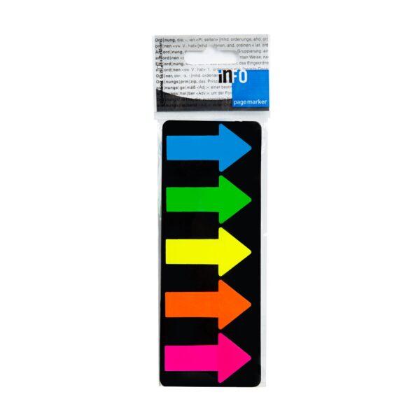 Zakładka samoprzylepna DUŻA STRZAŁKA, 5x25x45mm, 5x25 kartek, mix fluo