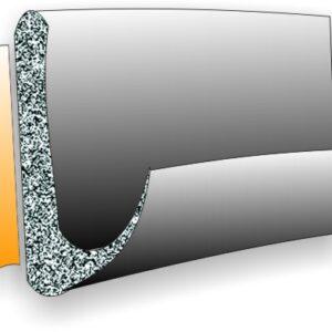 Uszczelka gumowa, samoprzylepna, profil V, 9x7 mm (różne kolory i długości)