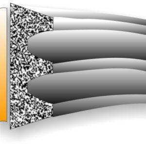 Uszczelka gumowa, samoprzylepna, profil K, 9x4 mm (różne kolory i długości)