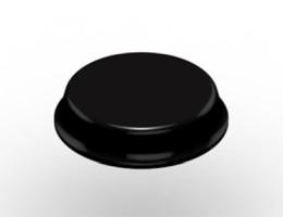 Bumpon okrągły 3M SJ-5744, czarny, antypoślizgowy, średnica 19,1 mm, wysokość 4,1 mm