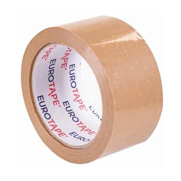 Brązowa taśma pakowa PVC 50/66m