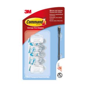 Uchwyty do kabli Command 3M 17017CLR małe (4 uchwyty)