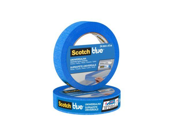 Taśma malarska ScotchBlue uniwersalna 41 m różne szerokości