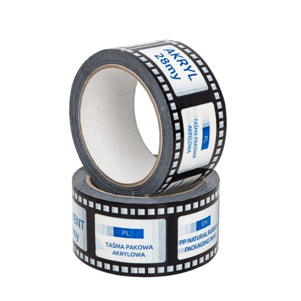 Taśma z nadrukiem własnym 50/60 pakowa akryl (druk nawierzchniowy, 1 kolor)