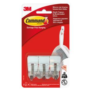 Haczyki Command 3M 17067 z metalowym uchwytem (3 haczyki)