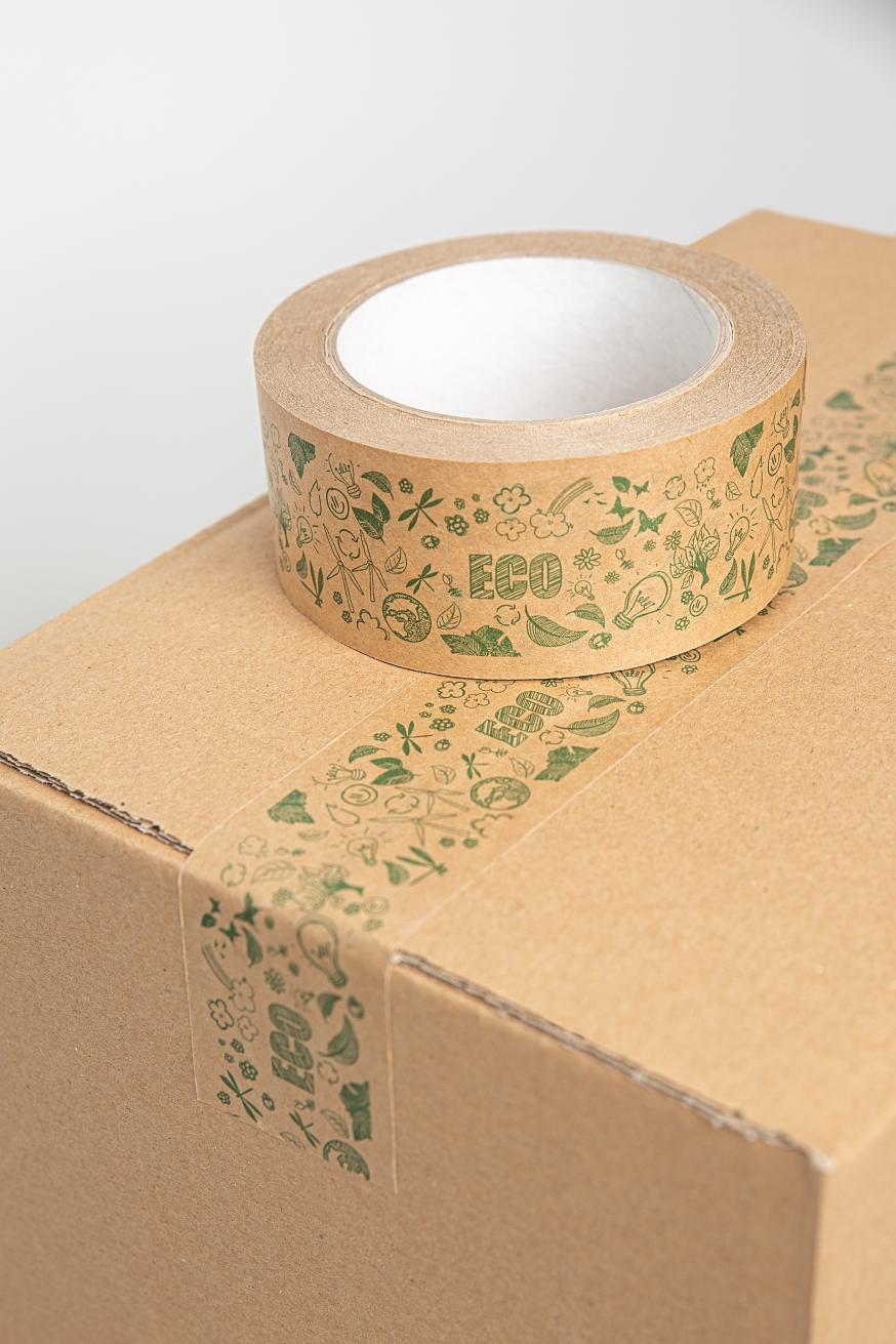 Taśma pakowa papierowa kraft brązowa