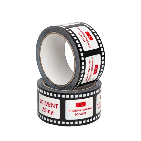 Taśma pakowa solvent 50/60 z nadrukiem indywidualnym druk nawierzchniowy, 1 kolor