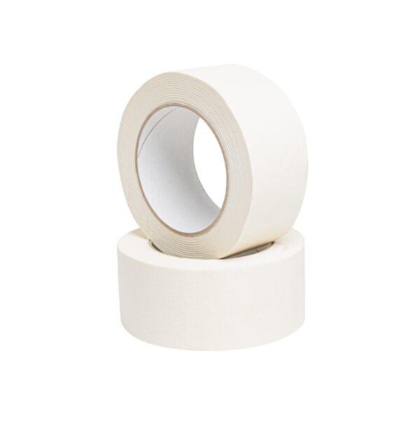 Taśma biała papierowa pakowa kraft ekologiczna 50/50m - SOLVENT