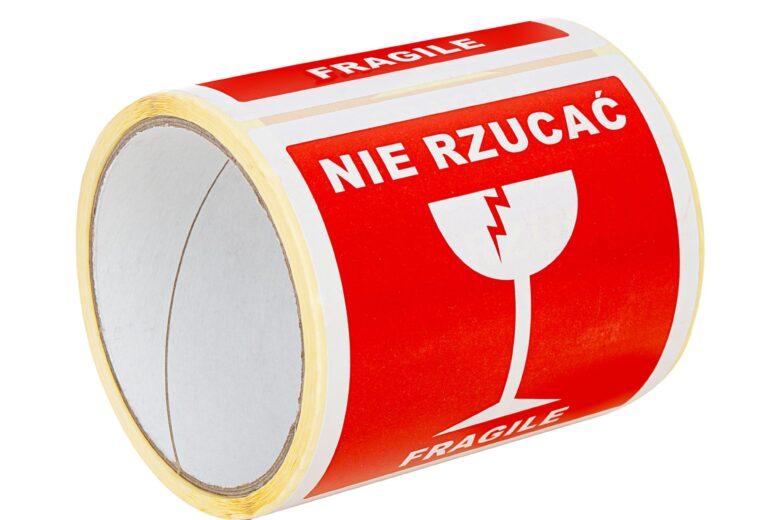 Etykiety ostrzegawcze na paczki – zainwestuj w bezpieczeństwo